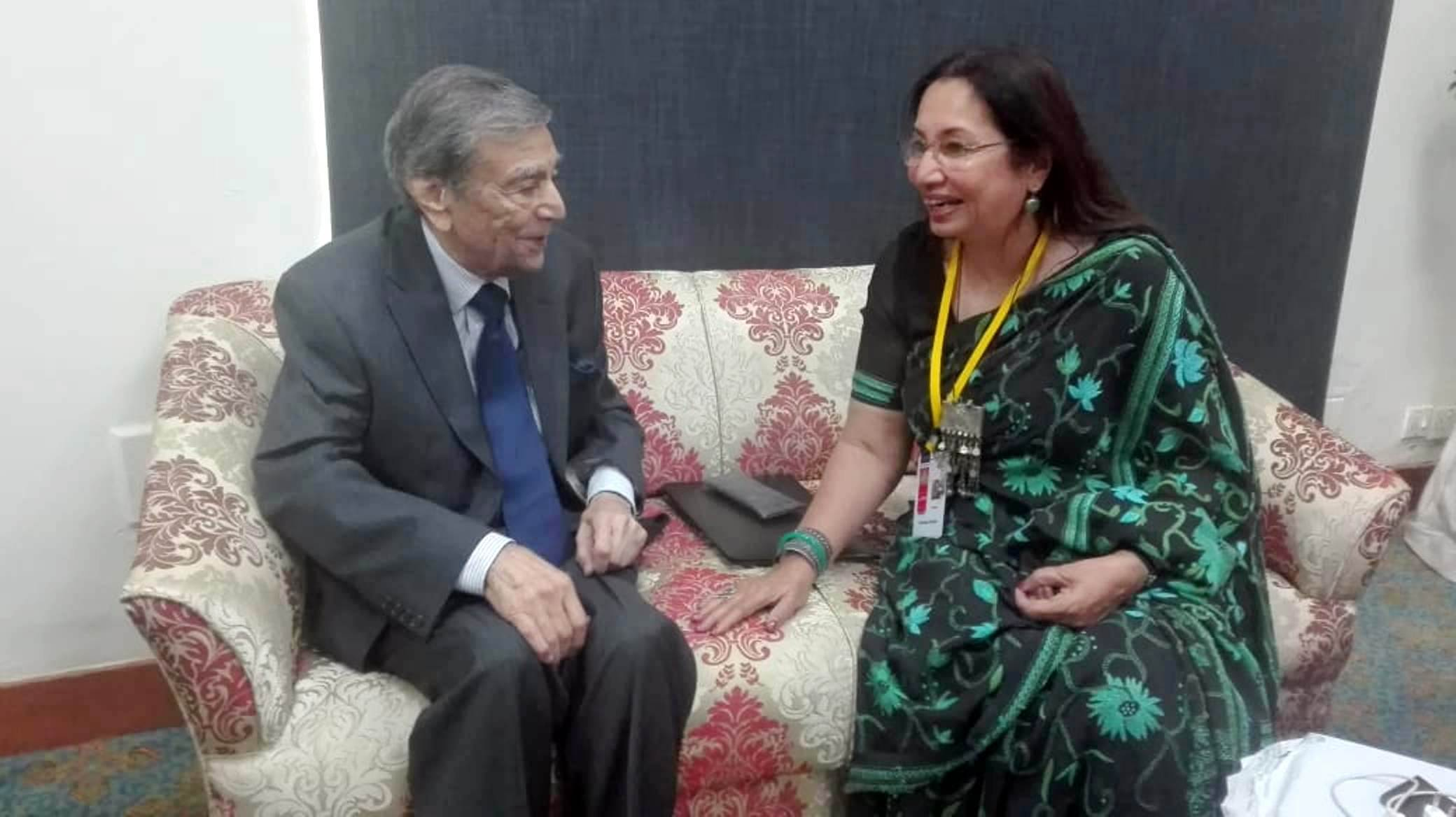 At the KLF 2019- I had interviewed the legendary Zia Mohyeddin for Dawn in 2004 when NAPA was about to begin operations